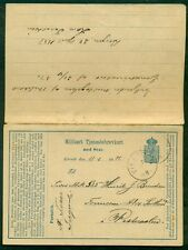 NORWAy 1886, Military Double card USED BOTH WAYS, Vikisogn cancel