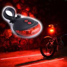 Fahrrad 5 Rot LED 2 Laser Rücklicht Sicherheit Licht Rücklampe  Beleuchtung 3482