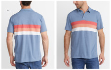 NEW MARINE LAYER LUCAS NAVY COLORBLOCK POLO SHIRT SZ XL
