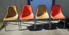 Four (4) Vintage Mid Century Modern Eames Howell Fiberglass Interlocking Chairs