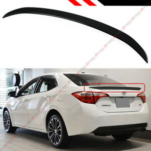 FOR 2014-2019 TOYOTA COROLLA PAINTED GLOSSY BLACK SPORT TRUNK LID SPOILER WING