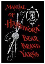 Bear Brand Manual #6 c.1902 - HUGE Vintage Knitting & Crochet Pattern Book