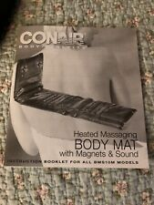 Conair Body Benefits Heated Massaging Body Mat Magnets/Sound Therapy BMS10M