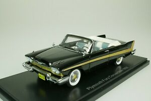 Plymouth Fury Convertible Cabriolet 1958 Black 1/43 Neo 46040 New
