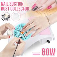 80W Ventola ASPIRATORE per Unghie Collezionista Aspirapolvere Tavolo Nail Art