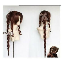 Fantasy VII Aerith Brown Gainsborough Cosplay Wig Fashion Cos Wig Hair