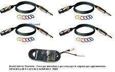 ROCKCABLE CAVO PER  MICROFONO CASSE CANNON XLR F + JACK 6,3 set  5 CAVI da 5 MT