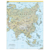 CIA 2004 Map Asia Continent China Russia India Canvas Art Print Poster