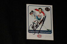 HOF YVAN COURNOYER 2002 FLEER GREATS OF THE GAME SIGNED AUTOGRAPHED CARD #25
