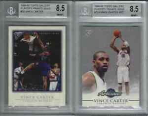 1999-00 Vince Carter Topps Gallery PLAYER'S PRIVATE ISSUE #/250 BGS 8.5 #55 #114