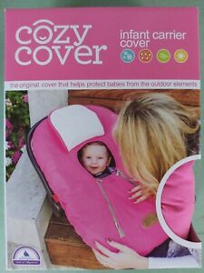 Cozy Cover Pink Infant Car Seat Carrier Cover Weatherproof Liner