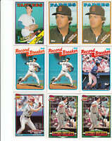 Complete Your 1986, 1987, 1988, 1989, 1990, 1991 Topps Baseball Set - Pick 30