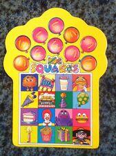 RARE Vintage 1985 McDonalds Mcsquares Birthday Party Game Board,Test Market Item