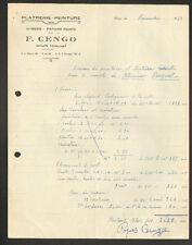"""AHUN (23) VITRERIE / PLATRERIE / PEINTURE / PAPIER PEINT """"F. CENGO"""" 1948"""