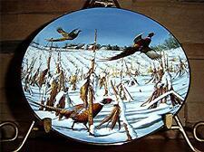 Startled Ringnecks~The David Maass Pheasant Plate Collection Danbury Mint Plate