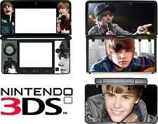 Nintendo 3DS N3DS JUSTIN BIEBER Skin Decal Sticker