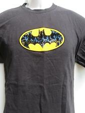 vtg BATMAN BEGINS raised felt logo black t shirt YOUTH size XL 16-18 L@@K!