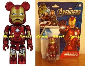 Be@rbrick Marvel Avengers assmable Iron Man 100% Mark VII Ironman 7 Bearbrick