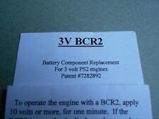 MTH BCR Battery Component Replacement-2 for PS-2 3 Volt Application*MADE IN USA*