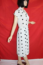50er 60er Vintage KLEID MIDI 50s 60s TRUE VTG DRESS Polkadots Rockabilly 40 M