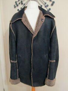 Ann Demeulemeester MEN`S 100% soft Leather Jacket Black size MEDIUM