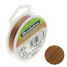 "Beadalon 7 Strand Bead Wire .015"" Diameter Satin Copper 30ft (D76/2)"