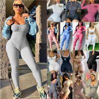 Fashion UK Women Sport Gym Yoga Jumpsuit Rompers Bodysuits Suit Fitness Workout