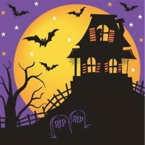 Halloween House of Fright Lunch Napkins Paper 18 Pack Halloween Party Tableware