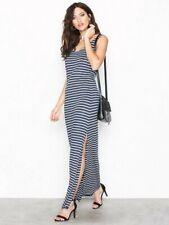 VILA Clothing - Videana Maxi Dress Navy Blue/White Stripe Uk Large Brand New
