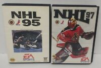 NHL Hockey 95 + 97 - Sega Genesis Working Tested - 2 Game Lot