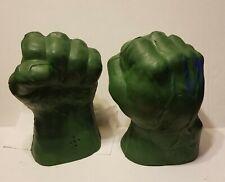 2003 Marvel Hulk Smash 'n Bash Gloves - makes sounds