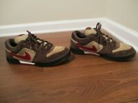 Classic 2006 Used Worn Size 13 Nike Zoom Air Regime Shoes Brown Beige Red White