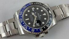 Rolex GMT-Master II 116710BLNR Engraved Ceramic Blue/Black BATMAN w/ Box, Papers