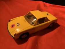 Working 1970s - Battery Operated Plastic PORSCHE  Car. RARE PIECE. 1/32