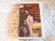 BARELY LEGAL LESBIAN VAMPIRES THE CURSE OF ED WOOD VHS GOTH HORROR LGBTQ NUDITY