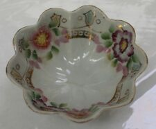 Porcelain Dish, unusual 3 footed design, Hand painted gold design, Made in Japan