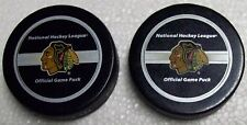 2005-2009 NHL Official Game Pucks, Chicago Blackhawks, Lot of 2!!