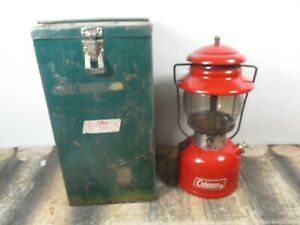 COLEMAN LANTERN 200 RED W / CASE  DATED. 6 - 70  NO RESERVE