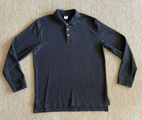 Brooks Brothers 346 Long Sleeve Polo Shirt Men's L Original Fit Dark Gray