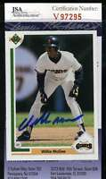 Willie Mcgee 1991 Upper Deck Jsa Coa Hand Signed Authentic Autograph
