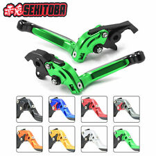 SEKITOBA Folding Extend Green Levers for Kawasaki Ninja 650R ER6n Versys Z650