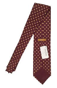 NEW Brioni Silk Tie!  *Cinnamon Brown with Gold & Jewel Print*  *Italy*