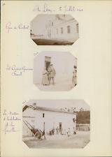France, Saint-Lary-Soulan, gare de Coutras  Vintage silver print, snapshot, 3 ph