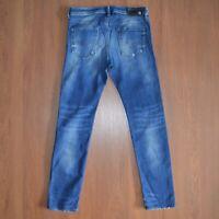 Diesel Buster Wash 0833F Stretch Regular Slim-Tapered Mens Blue Jeans sz W32 L32