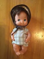 "Vintage - 5"" - Plastic Jointed Doll -  Rubber head - Hong Kong- Cute GUC"