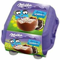 Milka Creme Eggs Chocolate with SPOON: OREO -4 eggs -FREE US SHIPPING