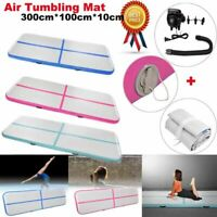 10 FT Air Track Floor Home Inflatable Gymnastics Tumbling Mat GYM w/ Pump USA