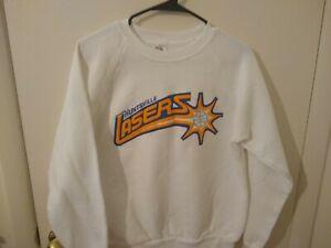 Vintage 1991 Huntsville Lasers Basketball Men's White Sweatshirt L Large Alabama