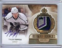 Tyler Toffoli 2013-14 UD Ultimate RC Rookie Logo Patch Auto Kings #155 04/25