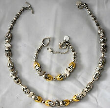 Nats Lunde 18K Solid Yellow Gold and Sterling Silver Necklace and Bracelet Set